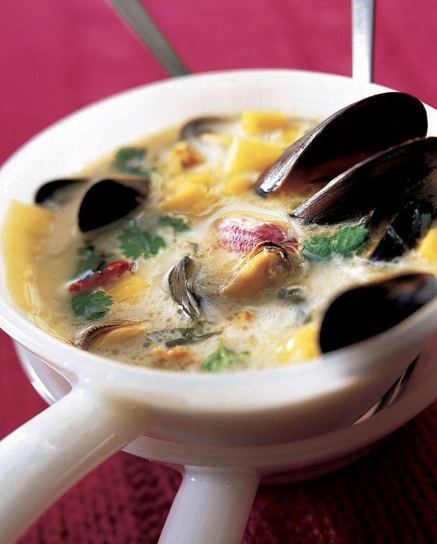 Soupe de moules au lait de coco