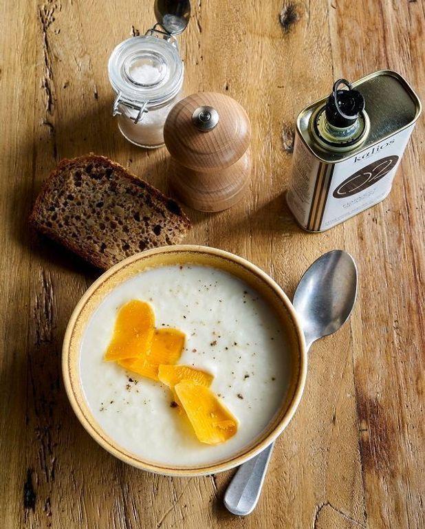 Soupe de panais et mimolette vieille