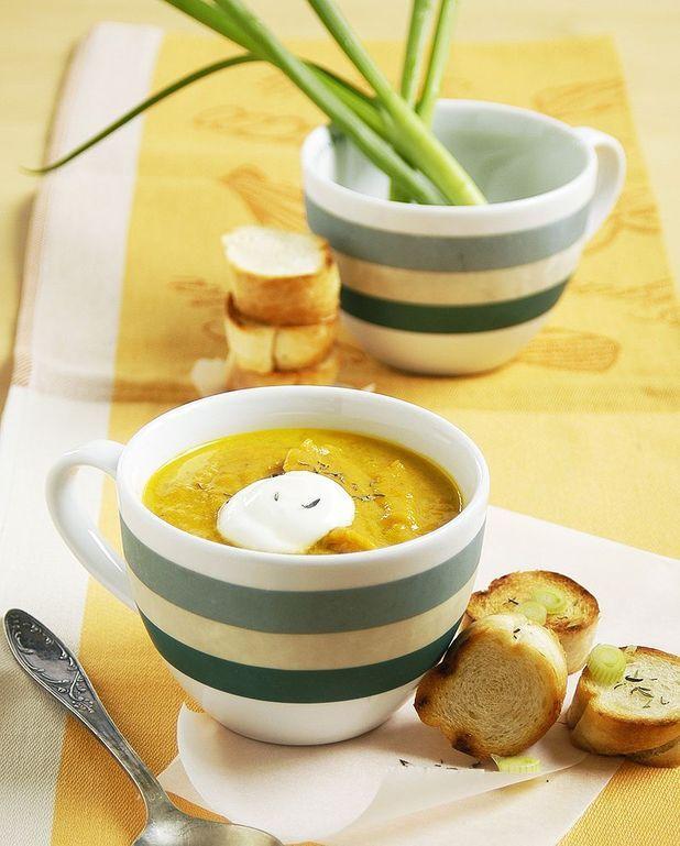 Soupe de potimarron à la citronnelle