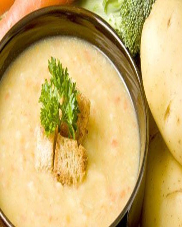 Soupe rustique de pommes de terre