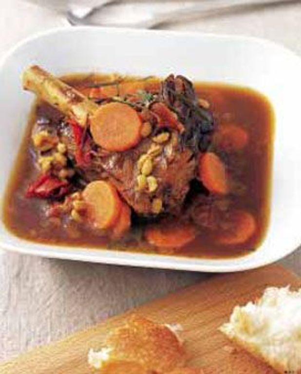 Souris d'agneau, sauce à l'orange et romarin