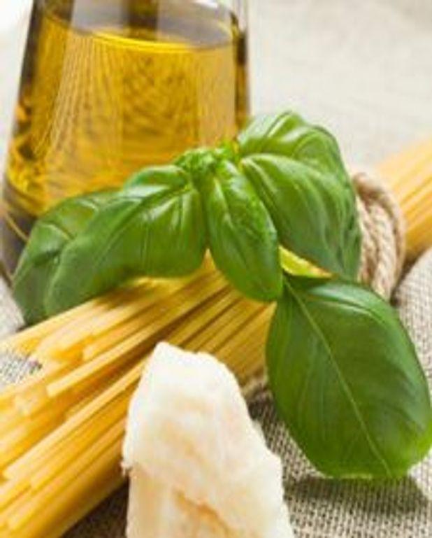 Spaghettis à l'huile aux herbes