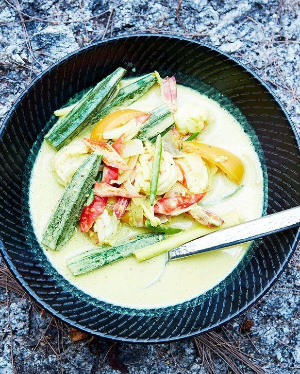 Spicy soup aux crevettes