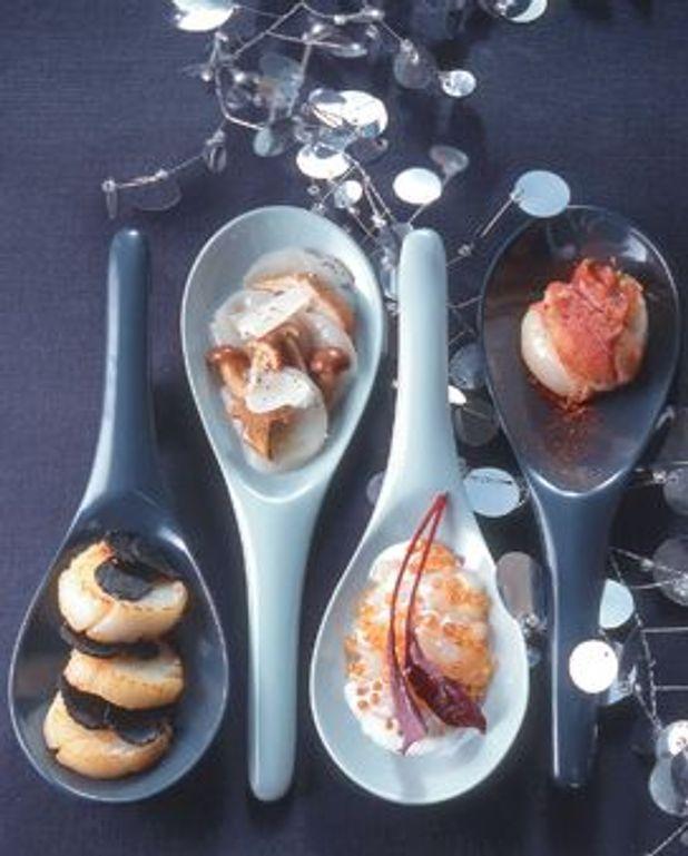 Spoons de Saint-Jacques à la truffe