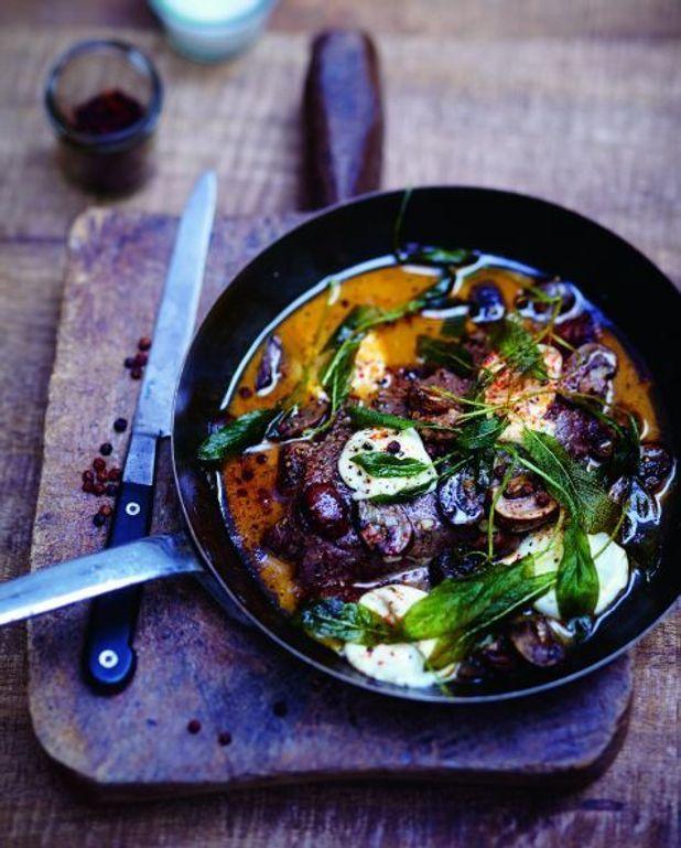 Steaks aux champignons et à la mozzarella