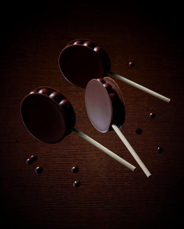 Sucette au chocolat à croquer