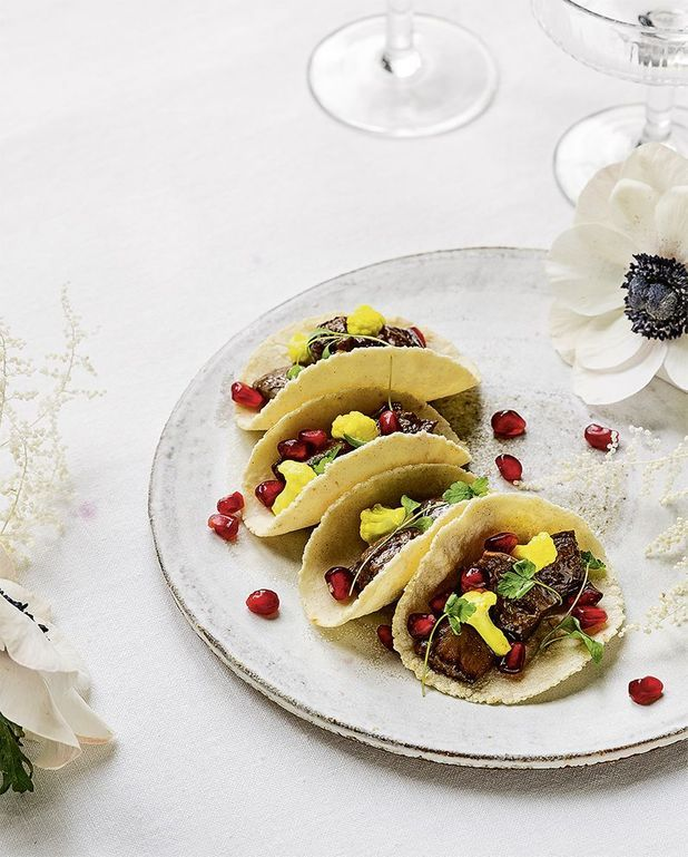 Tacos aubergines et chou-fleur