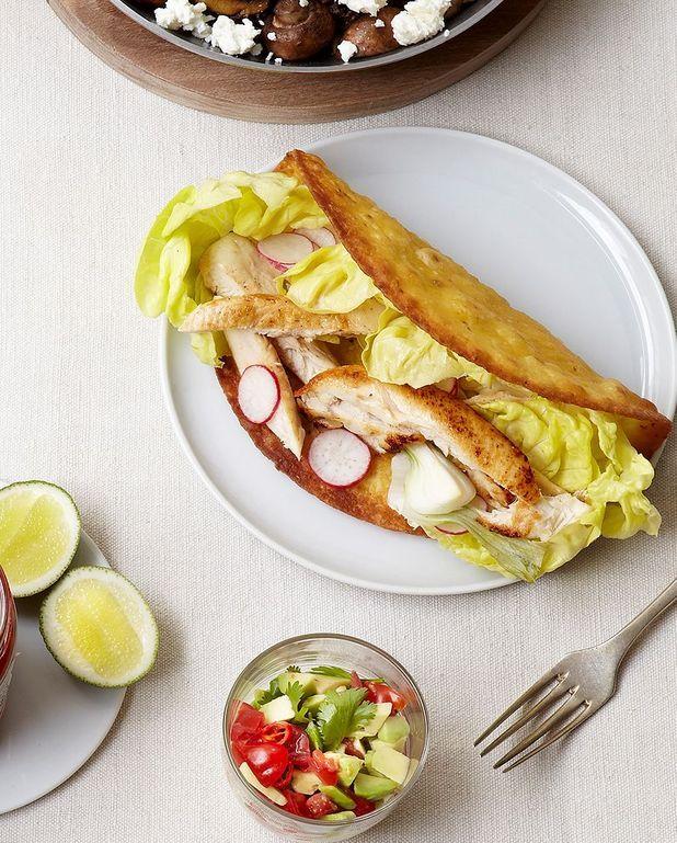 Tacos de poulet aux radis