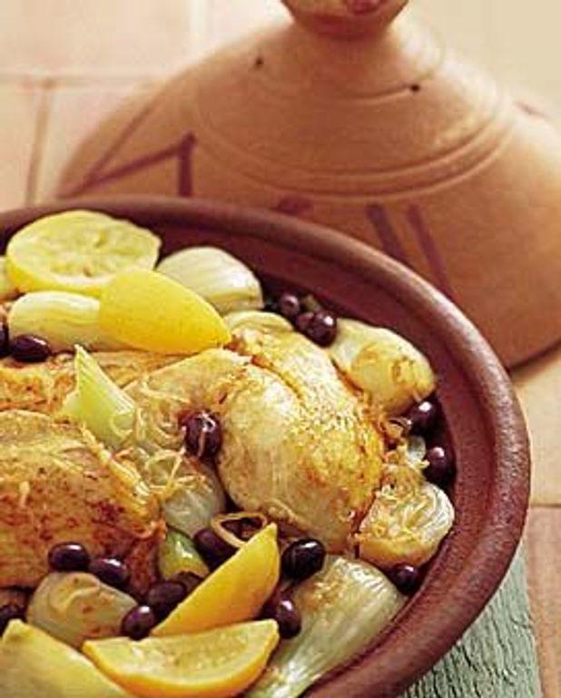 Tajine de poulet aux fenouils