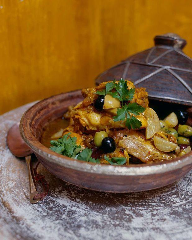 Tajine poulet aux olives et pommes de terre