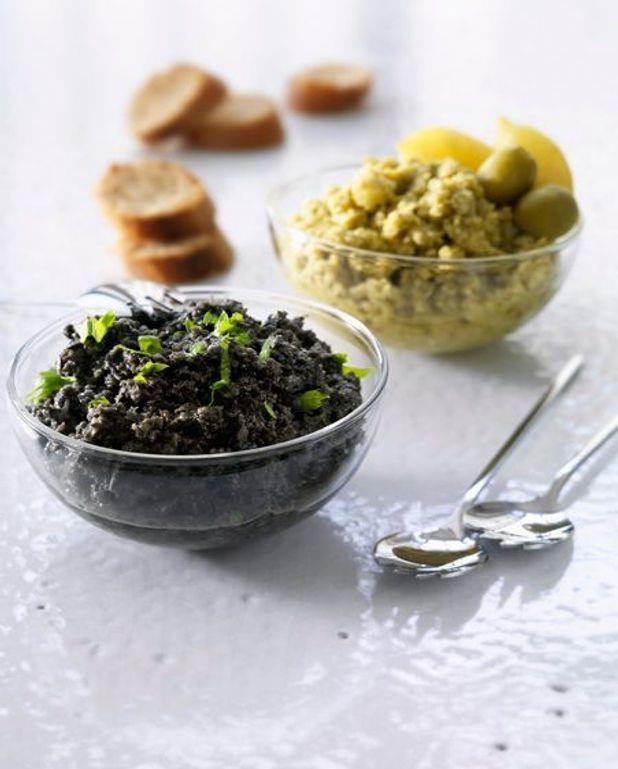 Tapenade aux olives et aux amandes