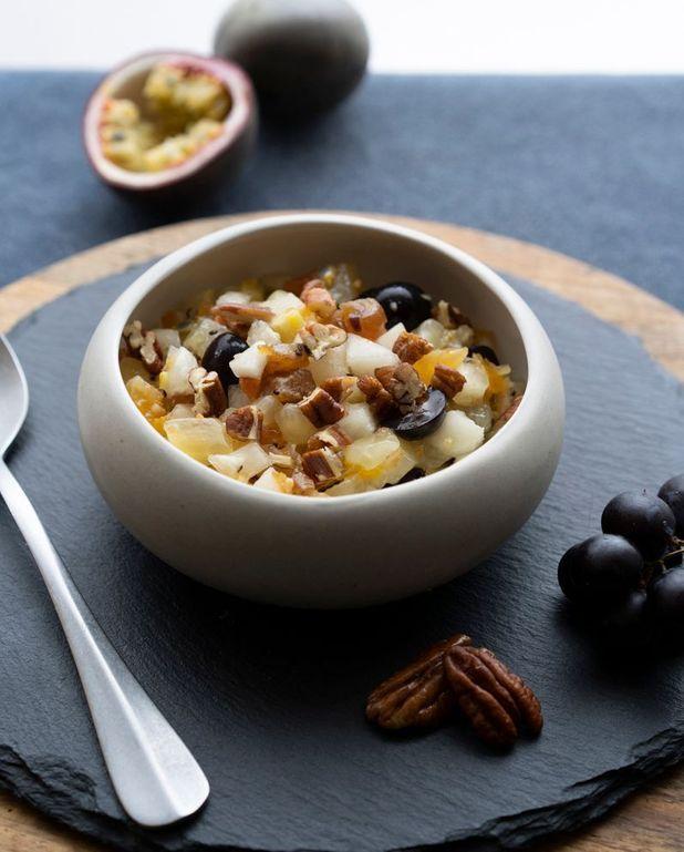 Tartare de fruits, vanille et poivre