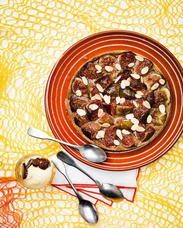 Tarte à la figue et crème d'amandes