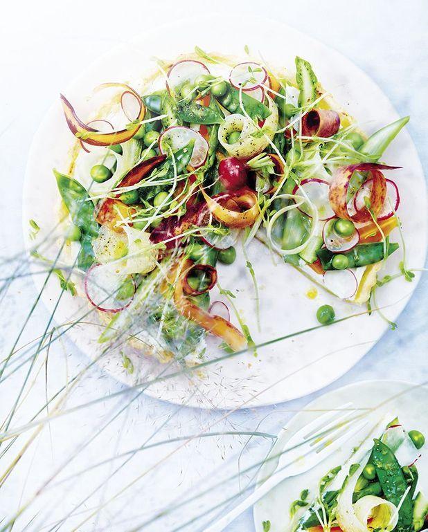 Tarte à la ricotta et aux légumes nouveaux