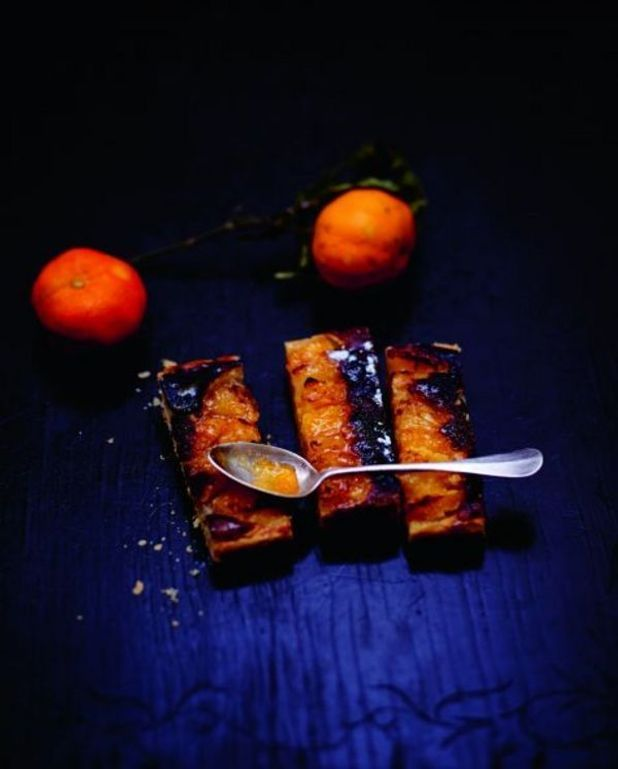 Tarte amande, orange, pamplemousse et clémentine