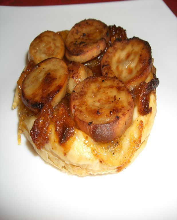 Tarte au boudin blanc et chutney de pommes