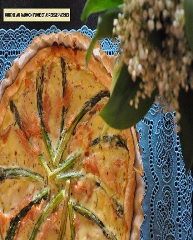 Tarte au saumon fumé et asperges vertes