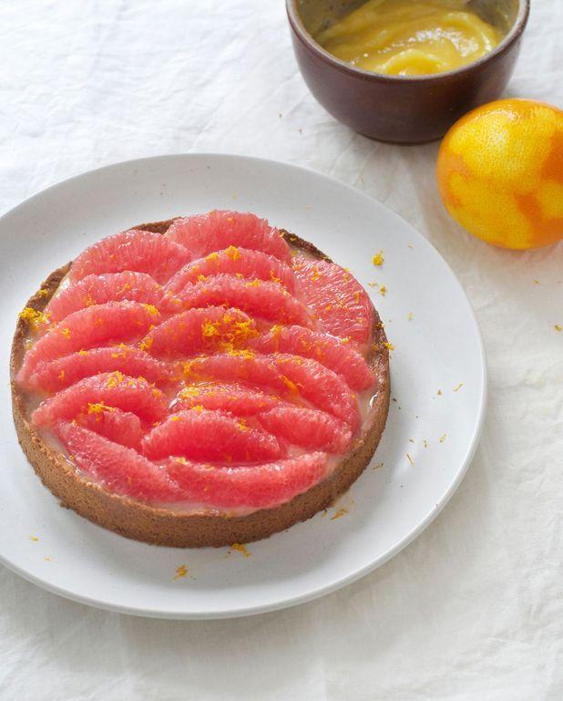 Tarte aux agrumes et lemon curd