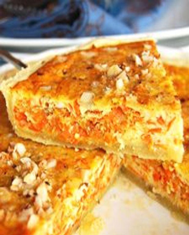 Tarte aux carottes et au gingembre