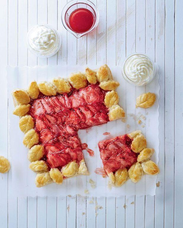 Tarte aux fraises cuites, crème mascarpone