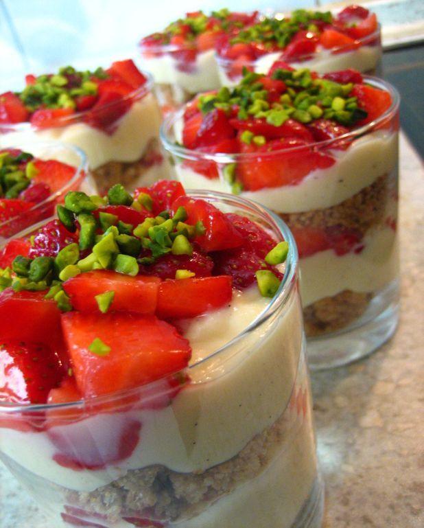 Tarte aux fraises destructurée