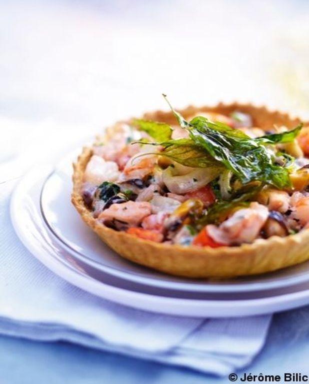Tarte aux fruits de mer