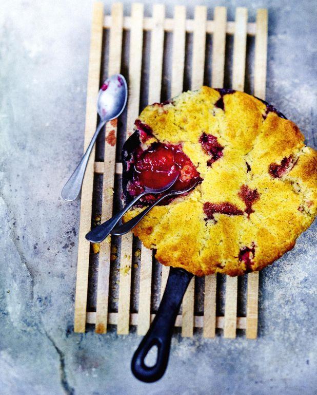 Tarte cobbler aux prunes