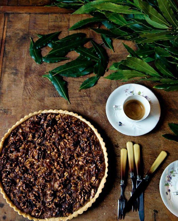 Tarte facile aux noix et miel