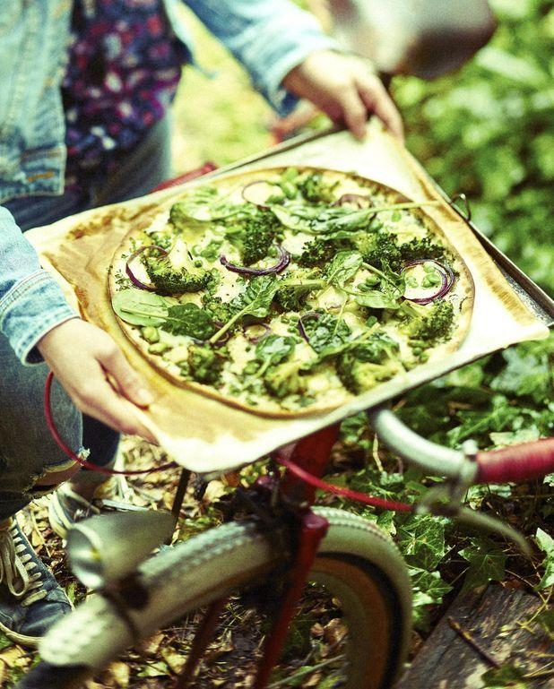 Tarte fine aux trois légumes verts