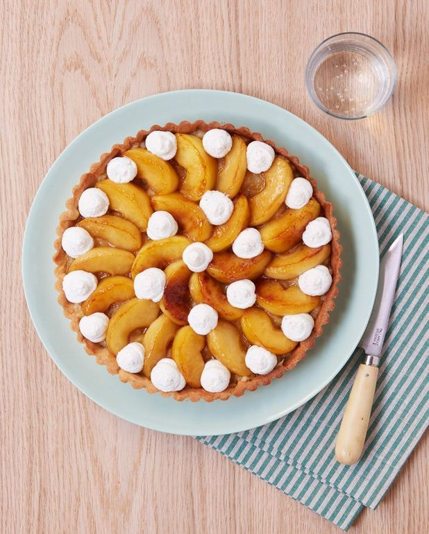 Tarte pommes-vanille