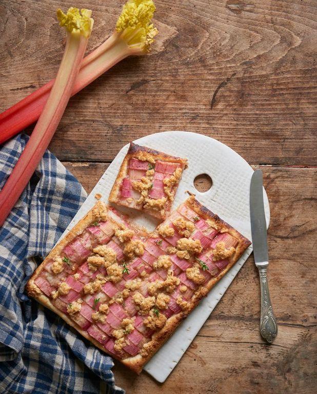 Tarte rhubarbe cannelle