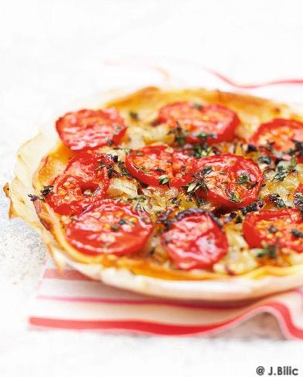 Tarte sans gluten aux tomates