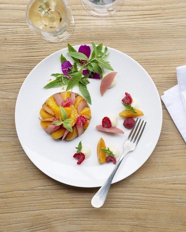 Tarte tatin de fruits jaunes