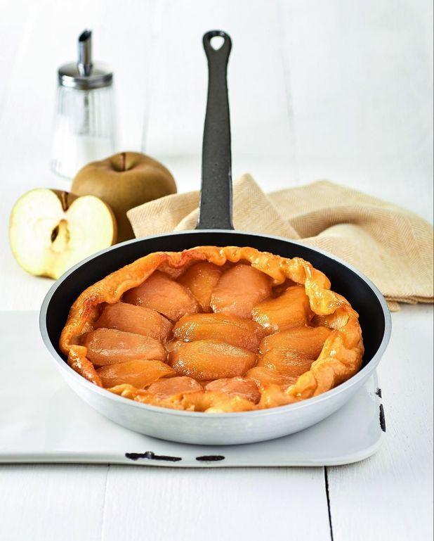Tarte tatin pomme et caramel sans four