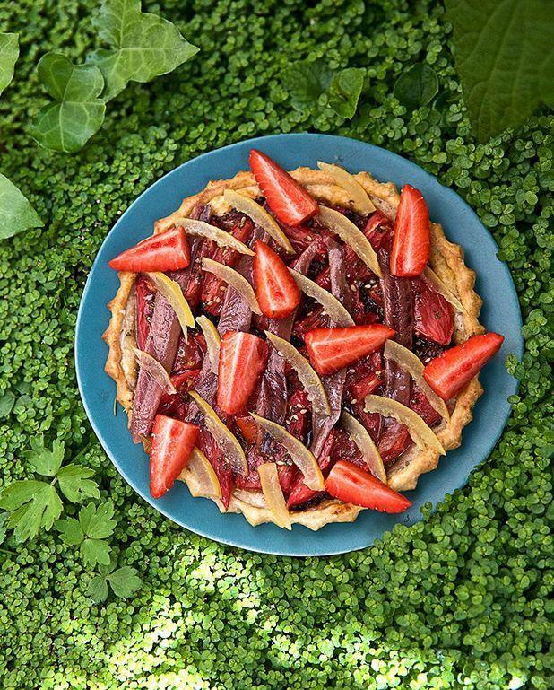 Tarte tomate, fraise et citron confit de Christophe Michalak
