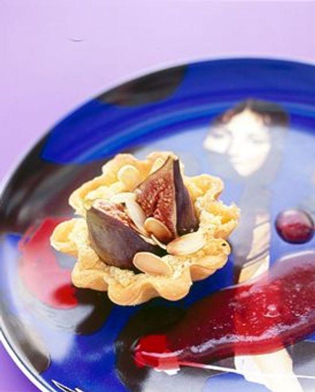 Tartelettes aux figues coulis de framboise