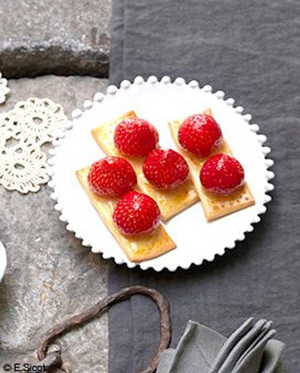 Tartelettes aux fraises, gelée au cidre