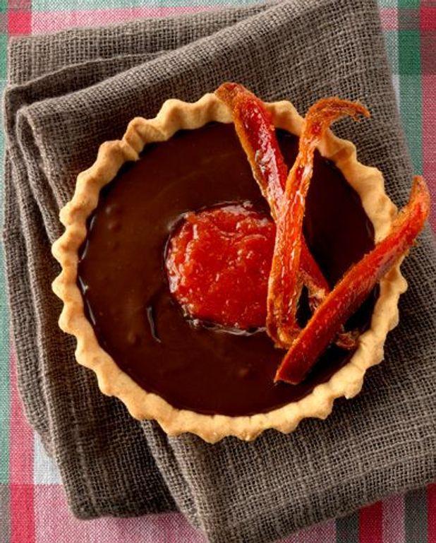 Tartelettes chocolat-poivrons