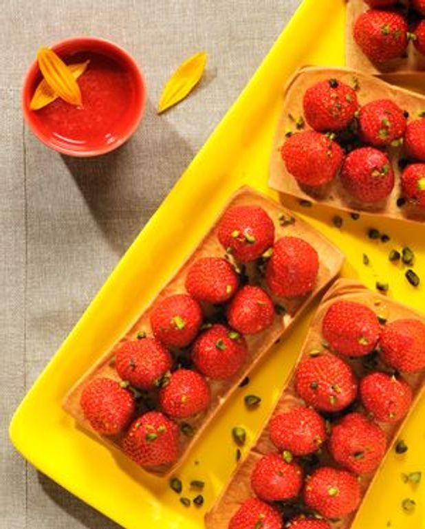 Tartelettes croquantes aux fraises