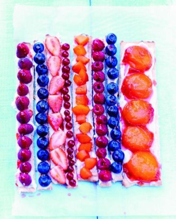 Tartes aux fruits au mètre