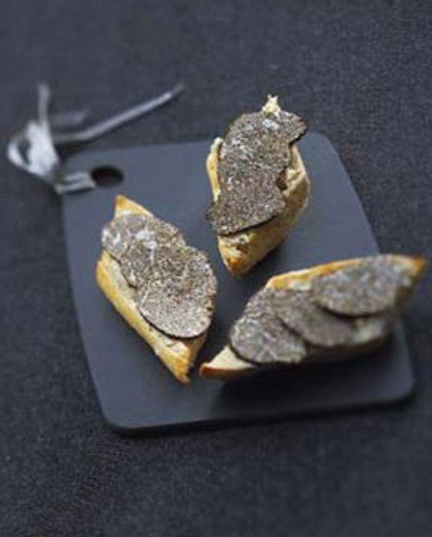 Tartine à  la truffe