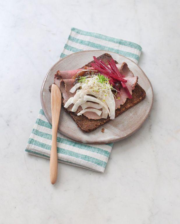 Tartine smørrebrød au rosbif