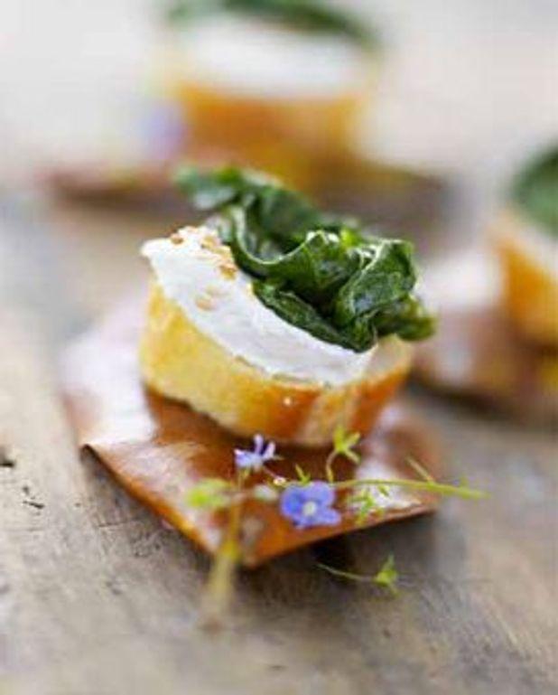 Tartines aux épinards