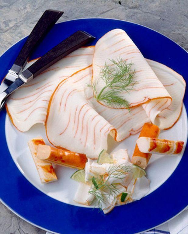 Tartines de surimi aux légumes