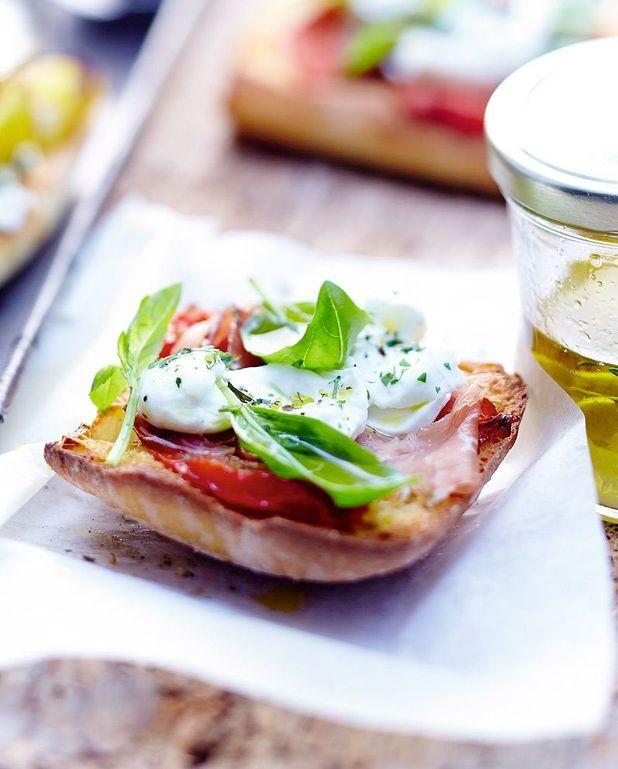 Tartines italiennes au prosciutto