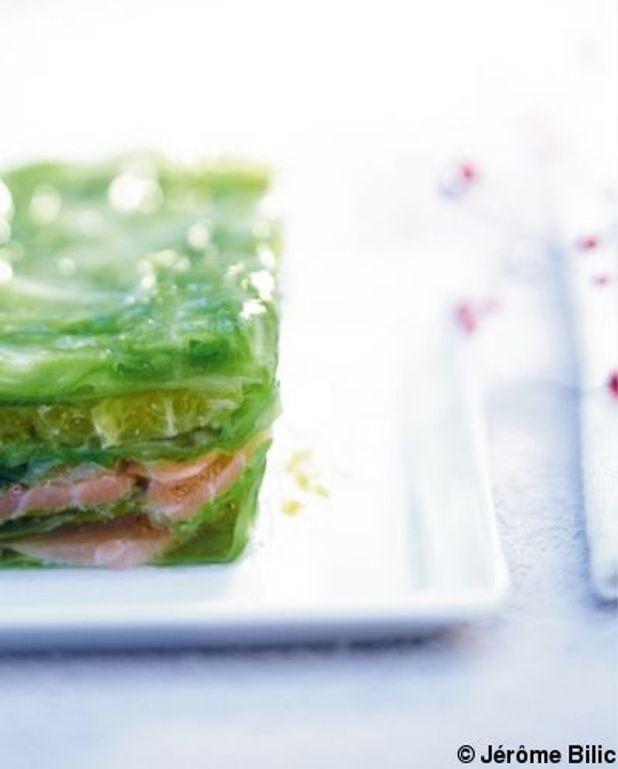 Terrine de saumon en feuilles de chou