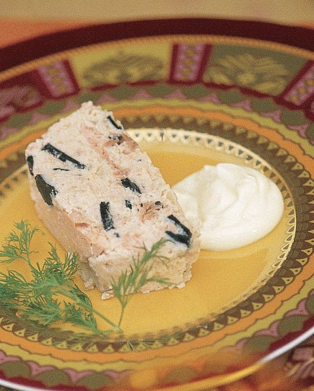 Terrine de saumon truffé