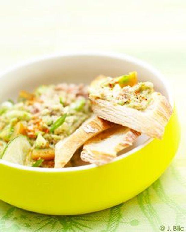 Thon guacamole en tartines