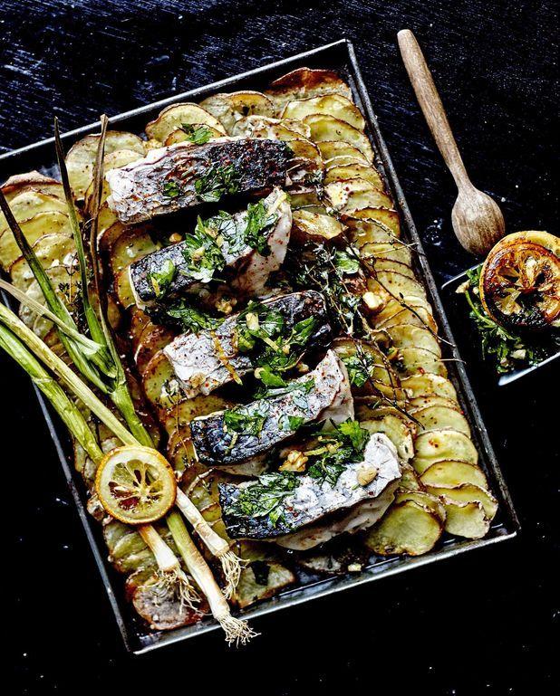 Tian de pommes de terre, poisson et gremolata