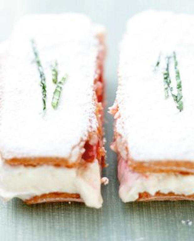 Tiramisu express, fraises et basilic